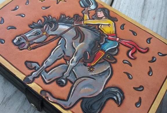 Buckin Bronc Travel Jewelry Box