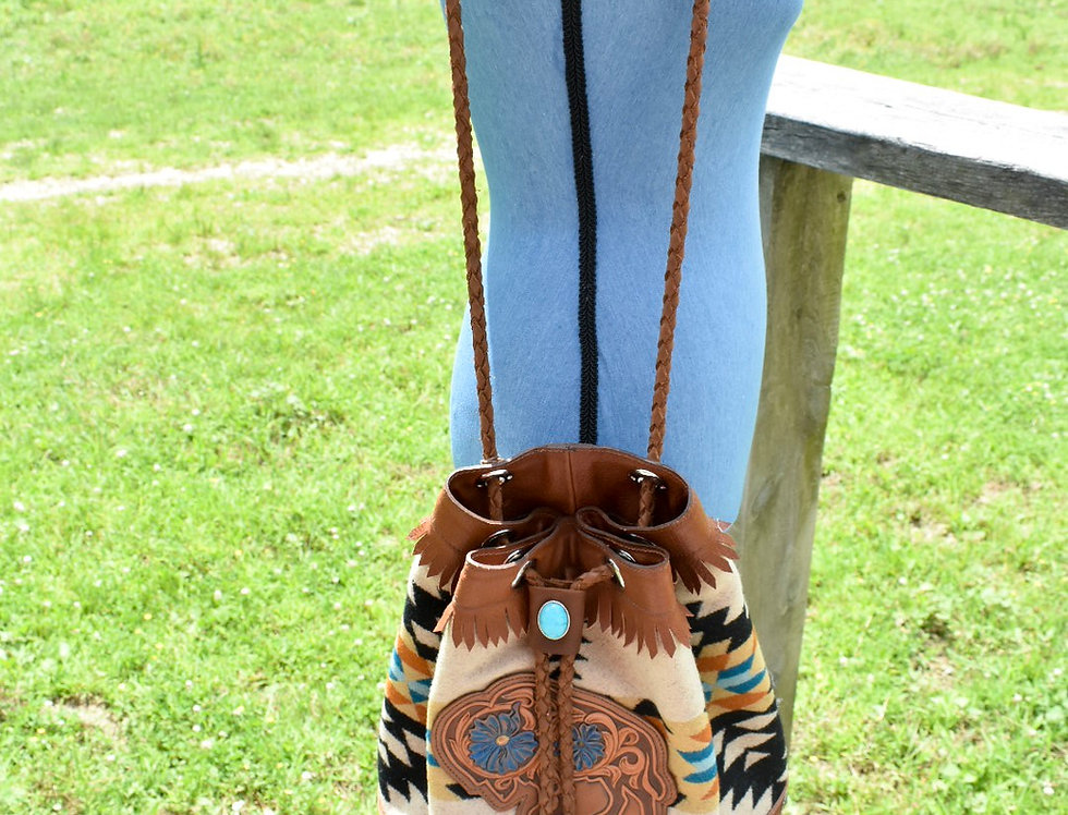 Pendleton Wool Buffalo Bucket Bag