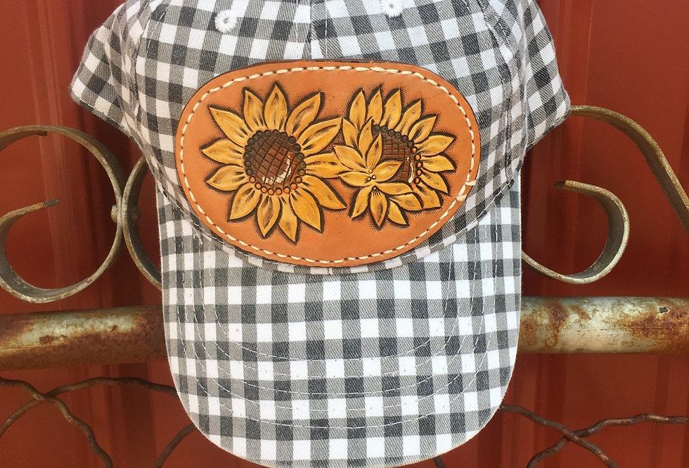 Buffalo Plaid Sunflower Hat