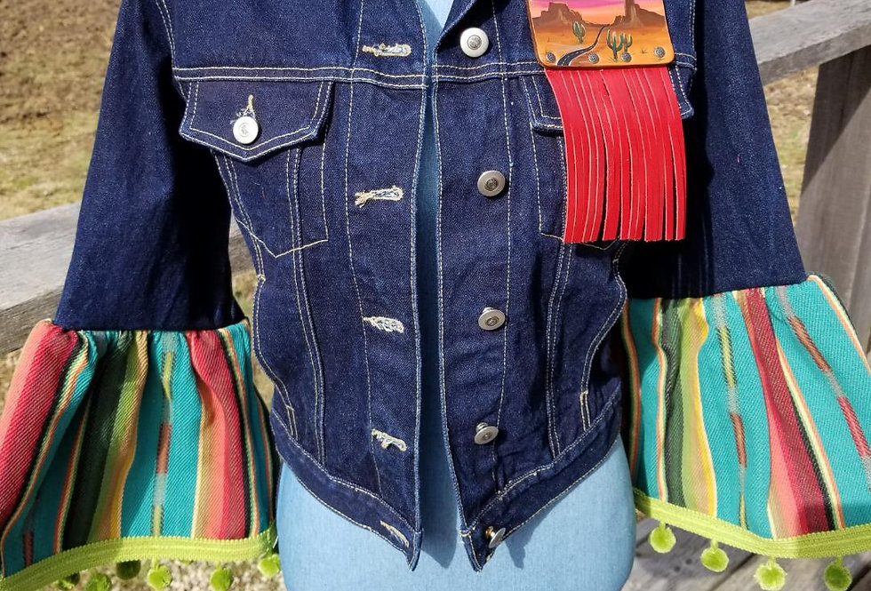 Jean Jacket Serape Sleeves