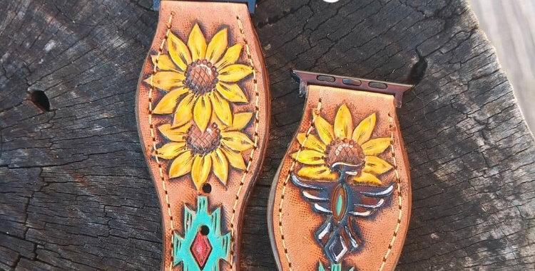 Sunflower Aztec Apple Watchband