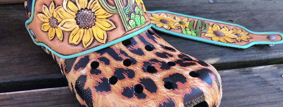 Cactus Sunflower Croc Straps