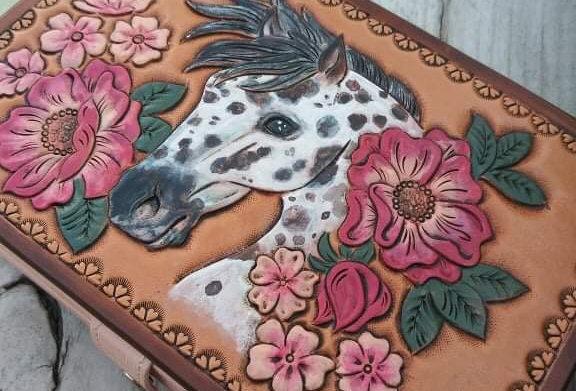 Appaloosa Floral Travel Jewelry Box