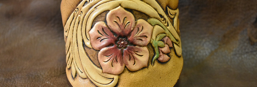 Floral Tooled Cuff