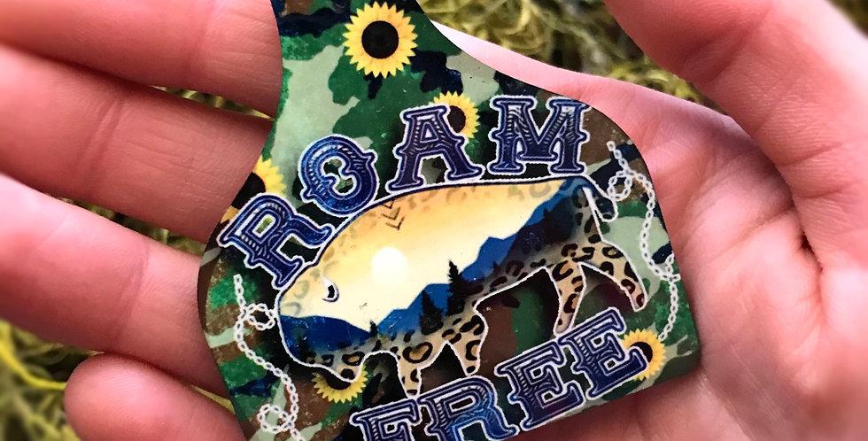 Roam Free Cowtag Keychain