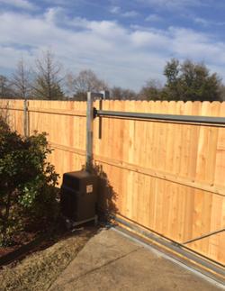 Fresh Fence & New Sliding Gate