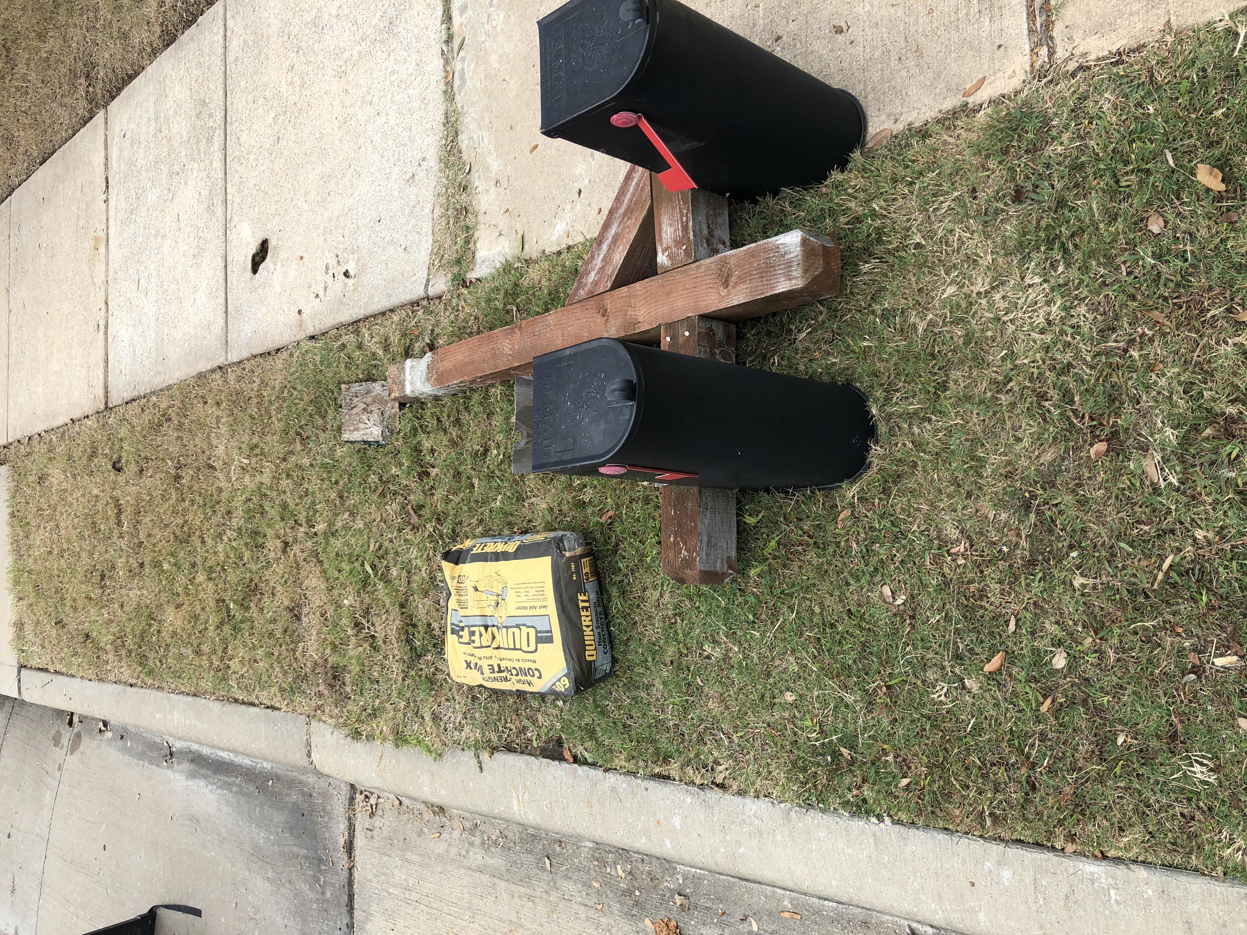 Before Mailbox Repair