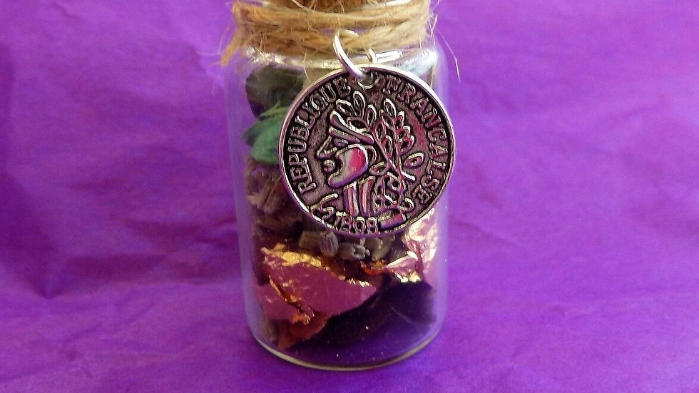 Wealth Witch Bottle- A magical Talisman