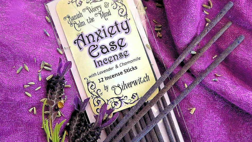 Ease Anxiety Incense Lavender and Chamomile 12 Pack