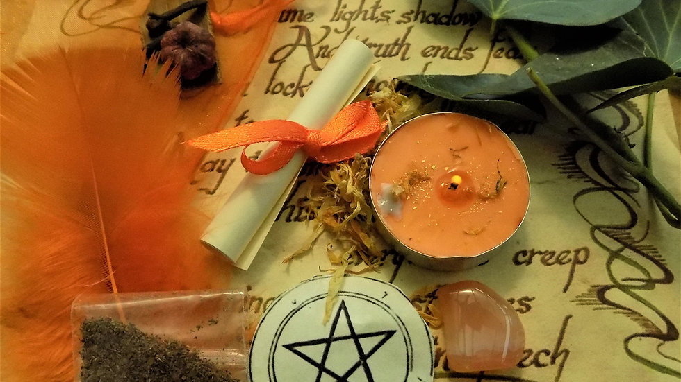 Lose Weight Spell Kit Ritual Magic Witchcraft with Handmade Candle