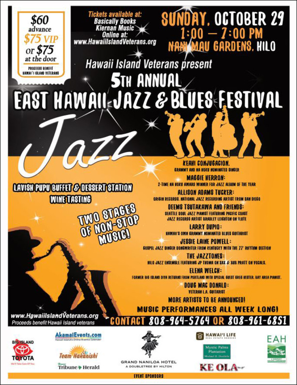 "This Weekend (Oct. 29th)...""East Hawaii Jazz Festival"""