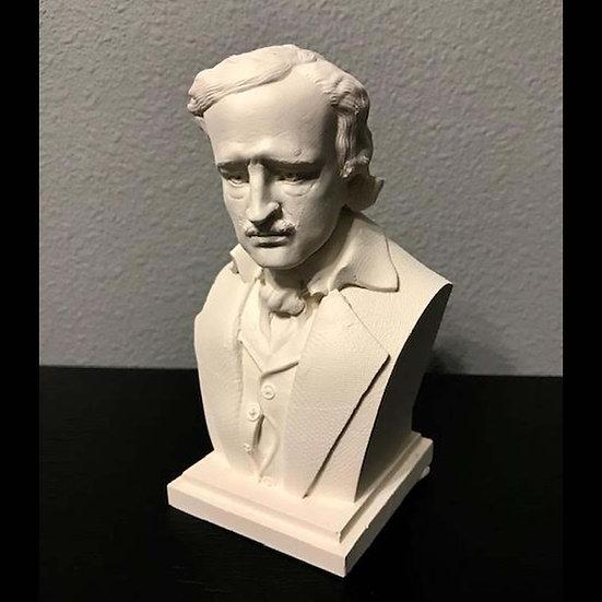 "6"" Plaster Bust: Edgar Allan Poe"