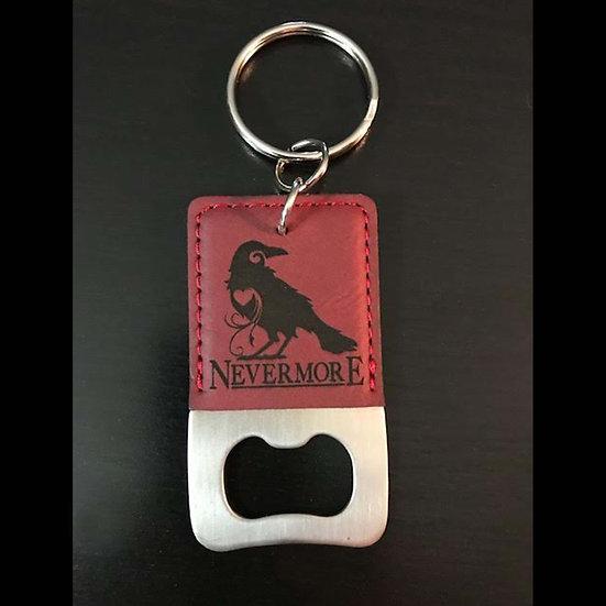 Bottle Opener Keychain: Red Raven