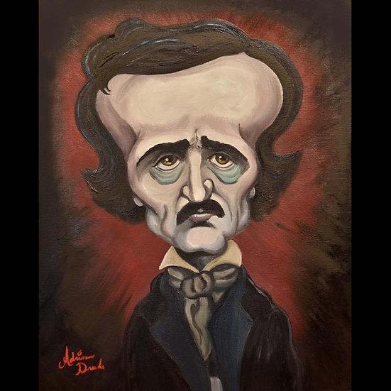 8x10 Print: Poe Caricature