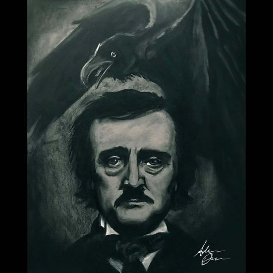 8x10 Print: Quoth the Raven (charcoal)