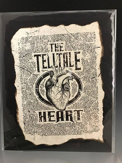 Distressed Print: The Telltale Heart