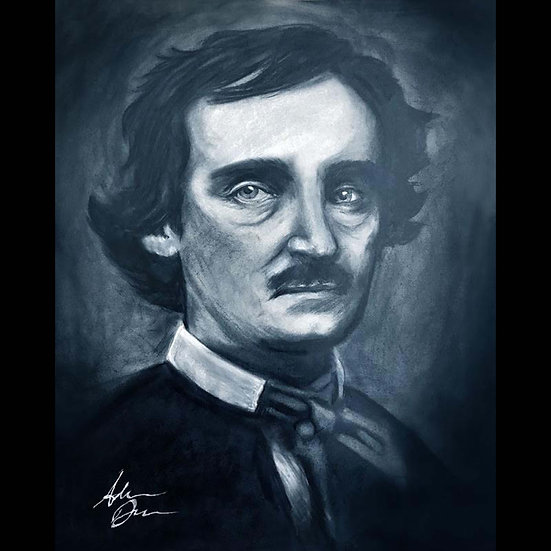 8x10 Print: Edgar Allan Poe (charcoal)