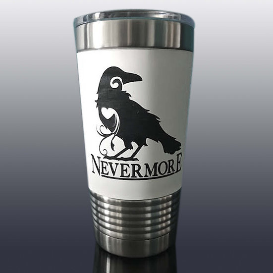 White Tumbler: Nevermore
