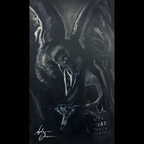 11x17 Print: Nevermore (Raven with Skull)