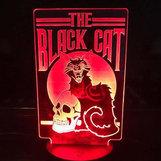 Light Up Art: The Black Cat