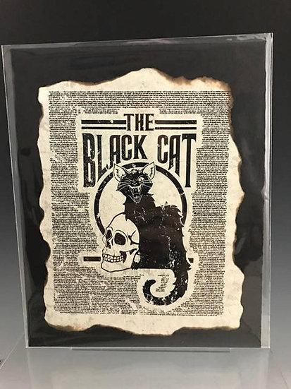 Distressed Print: The Black Cat