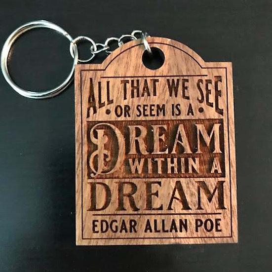 Wooden Keychain: Dream Within a Dream