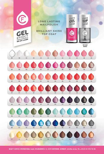 CF nail polish gel effect colorcard OSMA