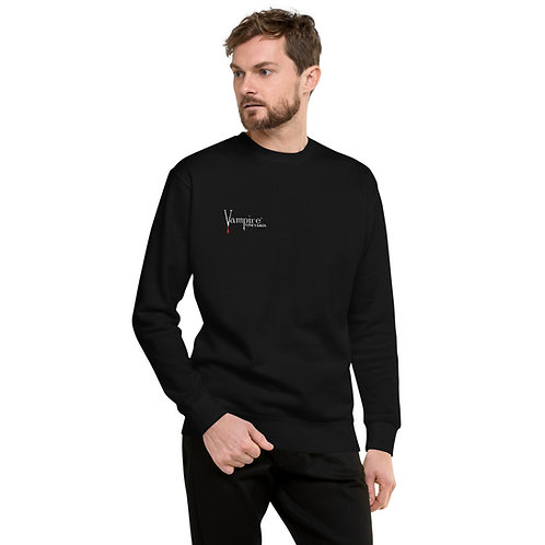 Vampire Unisex Fleece Pullover Black