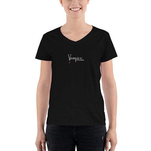 Women's Vampire V-Neck Shirt Black