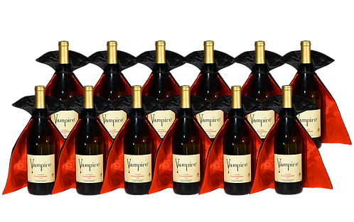 VAMPIRE® CHARDONNAY 12 BOTTLE CASE WITH WINE CAPES