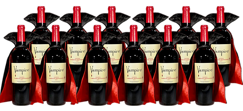 VAMPIRE® CABERNET SAUVIGNON 12 BOTTLE CASE WITH CAPES