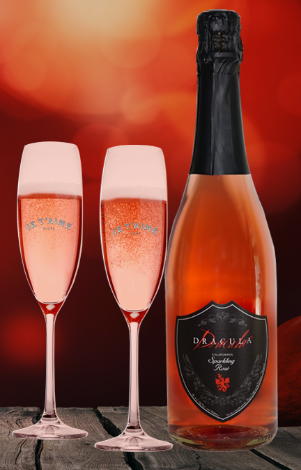 DRACULA® SPARKLING ROSÉ WITH 2 GLASSES
