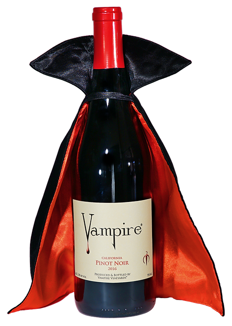 VAMPIRE® PINOT NOIR with Vampire® Wine Cape