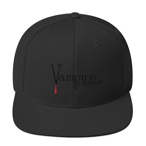 Vampire Black on Black Snapback Hat
