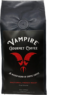VAMPIRE COFFEE - Nocturnal French Roast (Fine Ground)