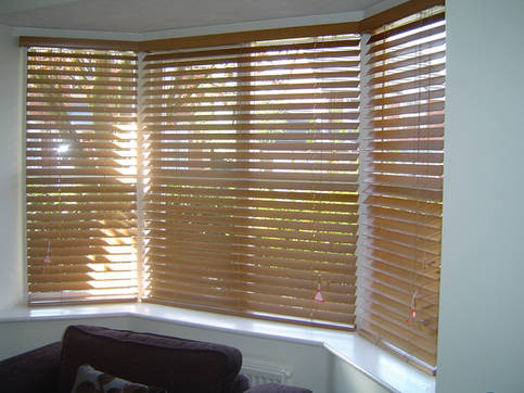 Slatted Wood Blinds