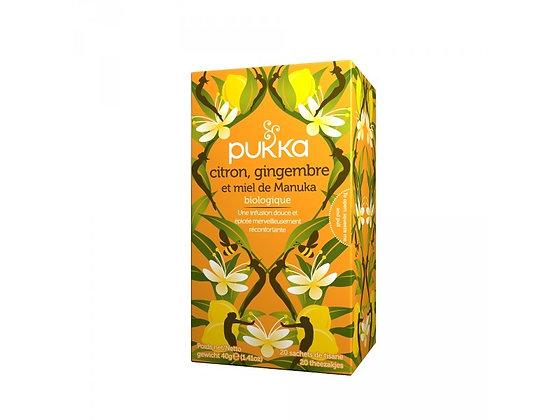 Infusion citron gingembre et miel de manuka Bio