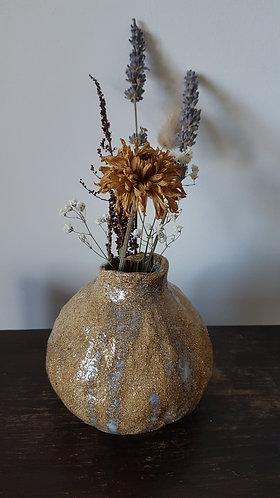 Hand formed bud vase
