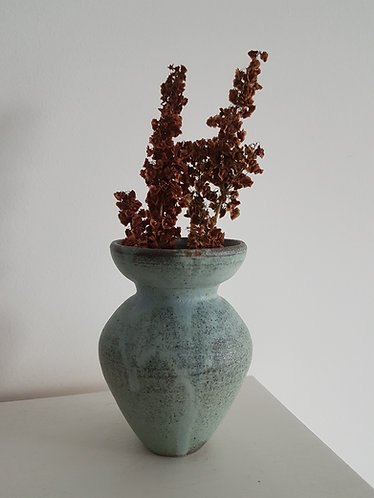 Washed blue vase
