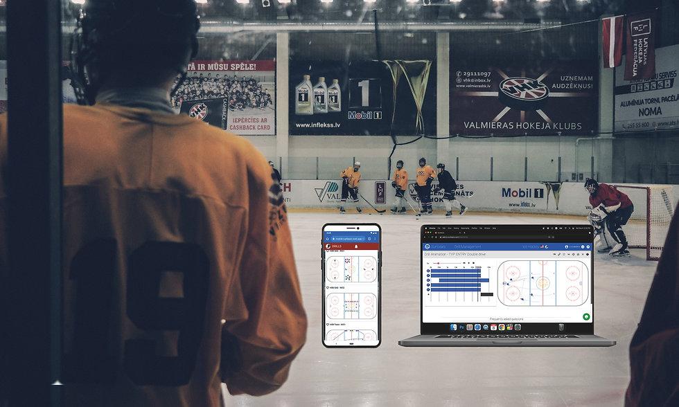 Ice Hockey drill software, Hockey coaching software, アイスホッケードリルソフトウェア、ホッケーコーチングソフトウェア