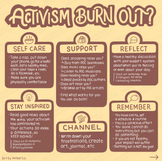 Activism Burn Out Infographic