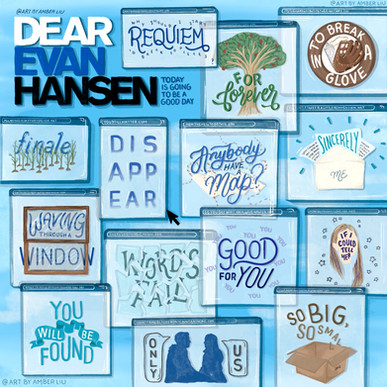 Dear Evan Hansen Album Illustration