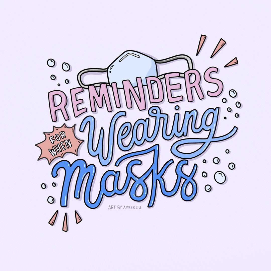 Reminders for When Wearing Masks Slide 1