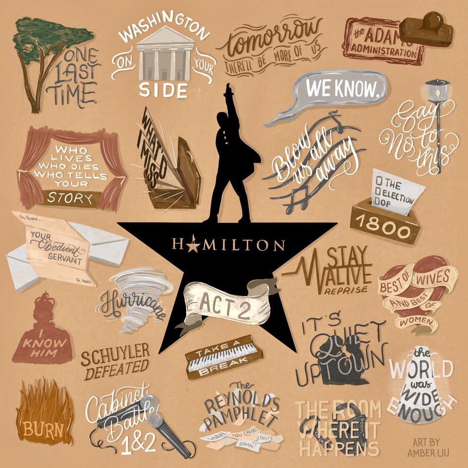 Hamilton Act Two Song Drawing