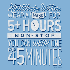 45 Minutes Mask Reminder Quote