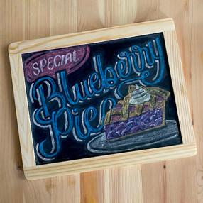 Blueberry Pie Chalkboard