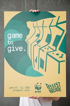 Assist Arcade Poster Mockup