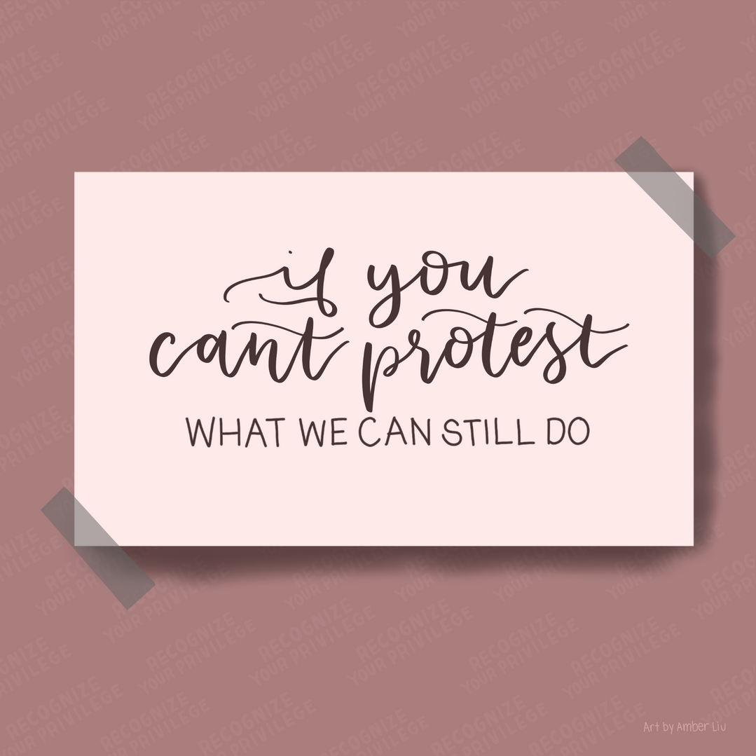 If You Can't Protest Slide 1