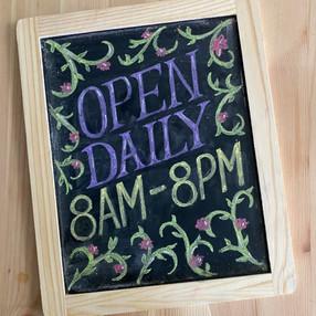 Open Daily Chalkboard