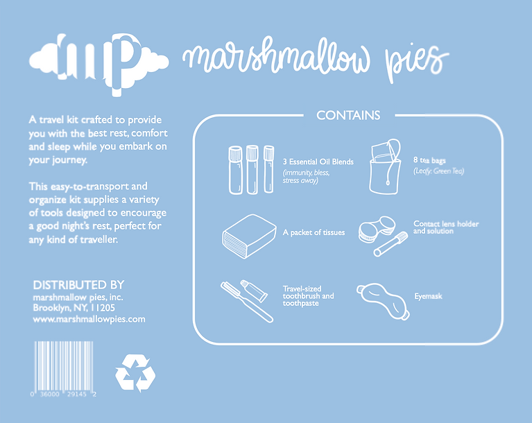 Marshmallow Pies Packaging Back